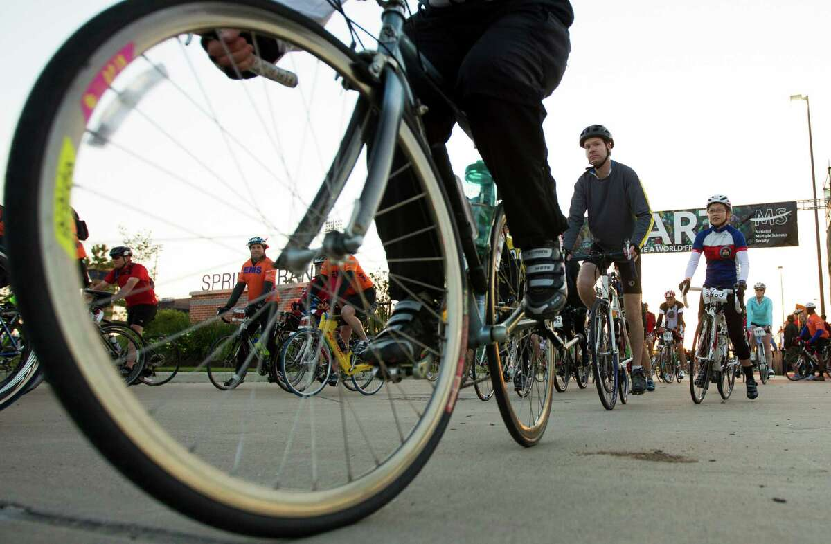 The MS150, the largest event of its kind in North America, is an iconic Houston event in which cyclists ride to Austin and raise money for multiple sclerosis research and awareness.