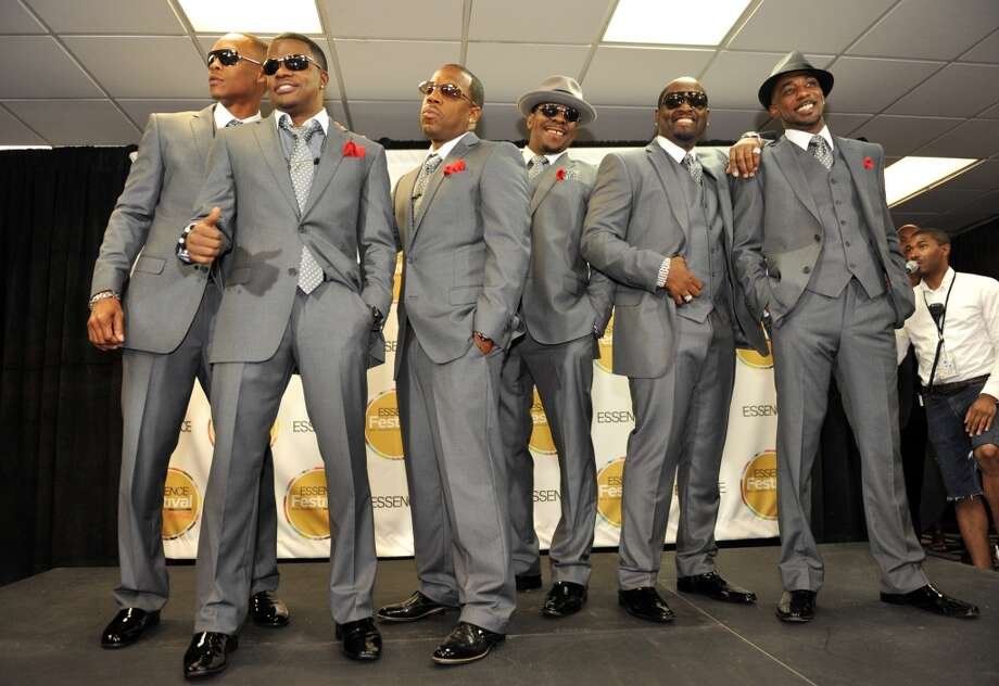 IMAGE DISTRIBUTED FOR ESSENCE - From left, Ronnie DeVoe, Ricky Bell, Michael Bivens, Bobby Brown, Johnny Gill and Ralph Trasvant, of musical group New Edition, pose backstage at the Essence Festival at the Superdome on Saturday, July 6, 2013, in New Orleans. (Photo by Adrienne Battistella/Invision for Essence/AP Images) ORG XMIT: INVL Photo: AP