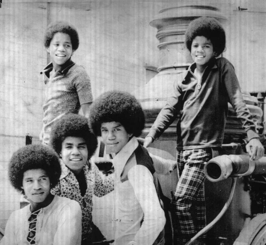 The Jackson Five; Top Marlon,14 (left) and Michael, 12. Below, left to right Jackie, 20 Tito, 17, and Jermaine. 8/31/1971. 1-A. GWM
