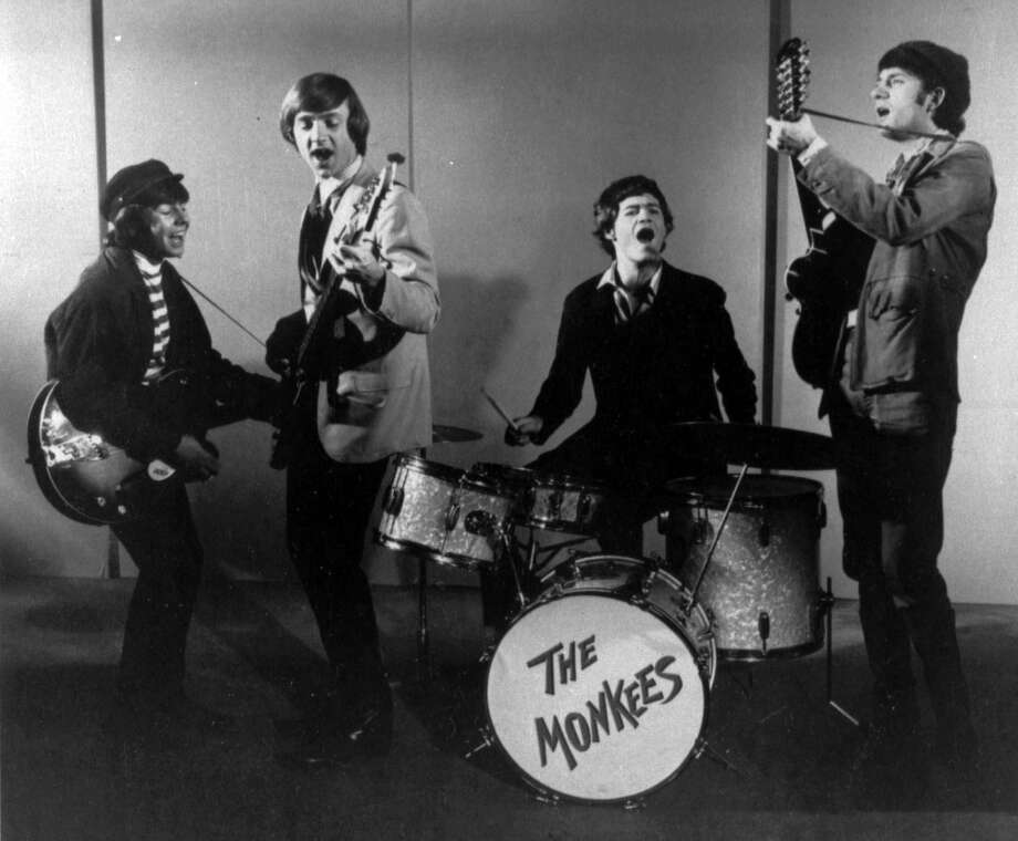 "FILE - This 1966 photo shows The Monkees, singing group. Shown from left, are, Davy Jones, Peter Tork, Micky Dolenz and Mike Nesmith. Jones died Wednesday Feb. 29, 2012 in Florida. He was 66. Jones rose to fame in 1965 when he joined The Monkees, a British popular rock group formed for a television show. Jones sang lead vocals on songs like ""I Wanna Be Free"" and ""Daydream Believer.""    (AP Photo/fls) Photo: AP"