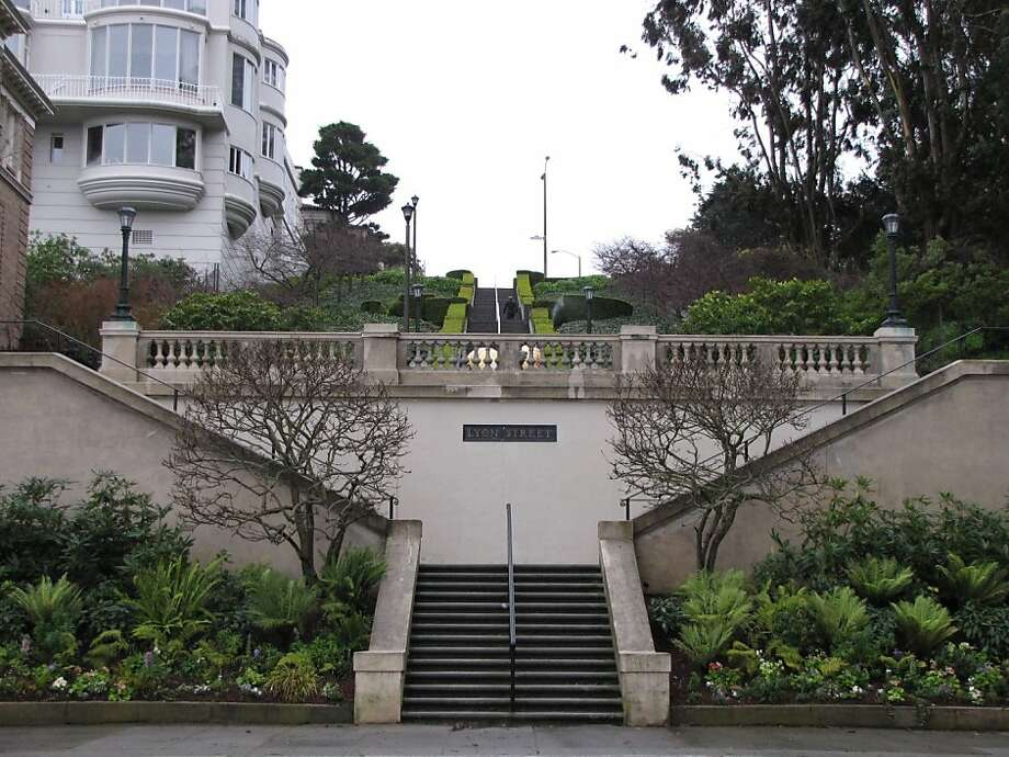 The Lyon Street steps are a popular site for joggers - and they mark the site of one of Juana Briones' homes. Photo: Stephanie Wright Hession
