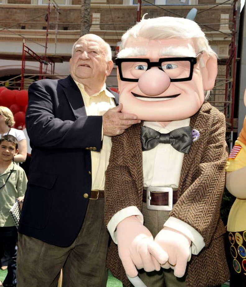 "Carl Fredricksen as a leading man in ""Up"" – So you want to make a kids movie about an old man who hates kids, then spend the first 10 minutes killing off his wife? Photo: Kevin Winter, Getty Images / 2009 Getty Images"