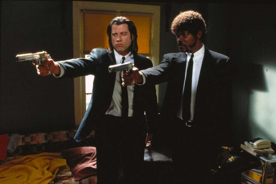 "John Travolta as Vincent Vega in ""Pulp Fiction""  – Travolta's last big role before ""Pulp Fiction?"" The second sequel to the baby-talking family comedy ""Look Who's Talking."" Photo: Courtesy Of Miramax"