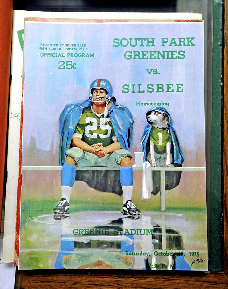 The South Park Heritage Association has pieced together a collection of Greenies goods at 505 W. Florida Avenue.  Among this collection is a large collection of football programs dating back to 1961.  Take a trip through time and visit some of these timeless battles. Photo taken: Randy Edwards/The Enterprise Photo: Randy Edwards, Photojournalist / Enterprise