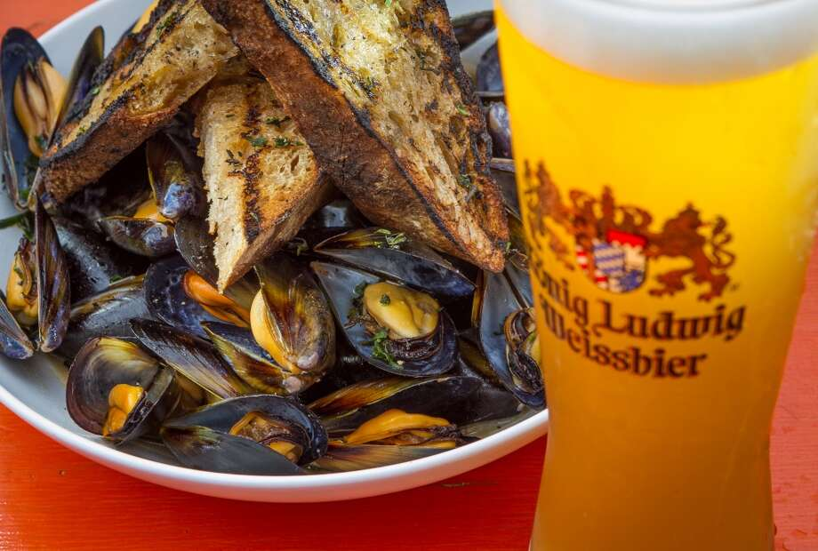 Beer-steamed mussels ($10 per 1/2 pound/$16 per pound ) Photo: John Storey, Special To The Chronicle
