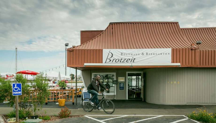 The exterior of Brotzeit. Photo: John Storey, Special To The Chronicle