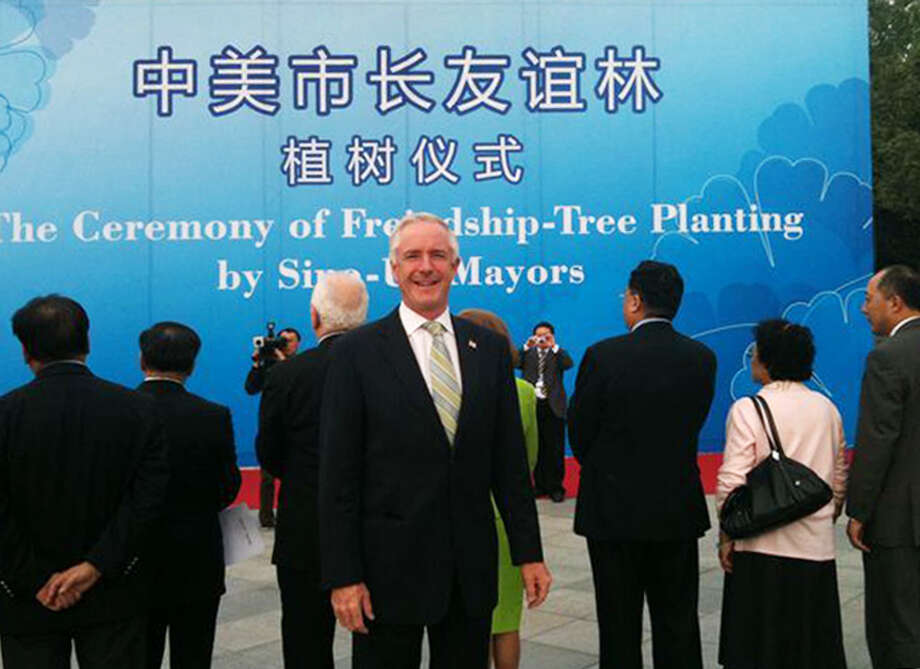 Bridgeport Mayor Bill Finch during a week-long trip to China in 2010, where he took part in the sixth Sino-U.S. Mayors Summit. Photo: Contributed Photo, ST / Connecticut Post Contributed