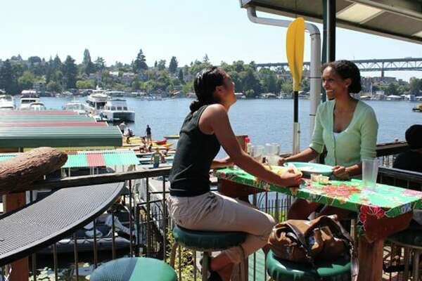 Tucked into the north side of Portage Bay, Agua Verde Cafe and Paddle Club offers kayaking in addition to Mexican food and tasty margaritas.
