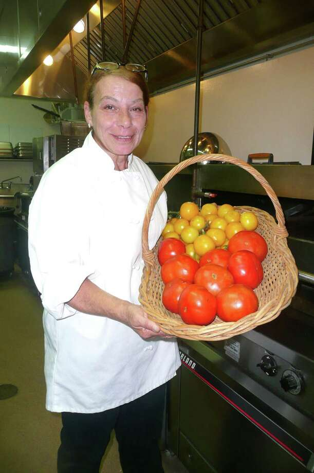 Deborah âÄúDebbieâÄù Pennella is the chef at The Mews, the senior assisted living residence in downtown Greenwich. She started cooking there when The Mews opened in 1970. Photo: Anne W. Semmes