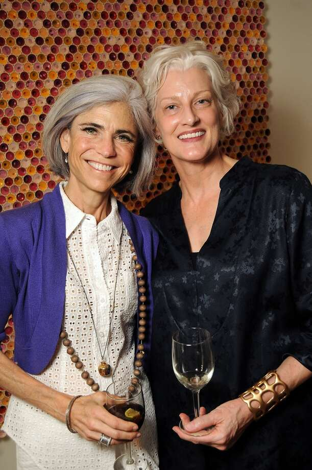 Host Judy Nyquist and curator at large Virginia Rutledge at a party celebrating the Texas 13 Biennial. Photo: Dave Rossman, For The Houston Chronicle