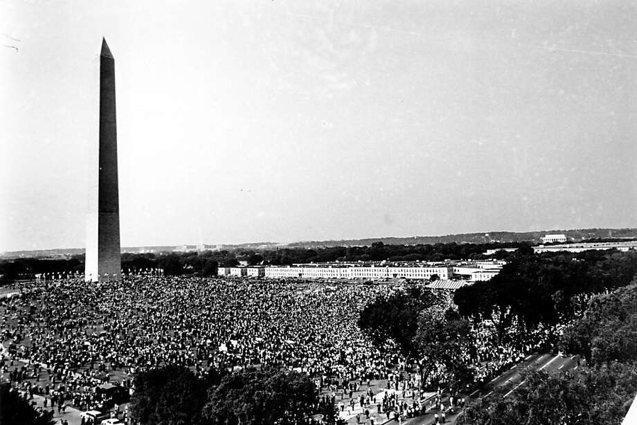 More than 200,000 gathered on the mall for the March on Washington for Jobs and Freedom on Aug. 28, 1963. The Rev. Martin Luther King spoke late in the day. Photo: Associated Press