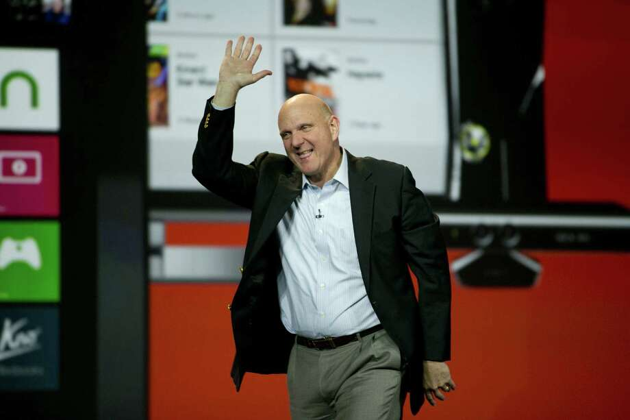 After more than a decade at the helm, Steve Ballmer will step down within 12 months as chief executive officer of the Microsoft Corp. Investors hailed the news, because under his watch, the company lost half its value. Photo: Bloomberg / File Photo