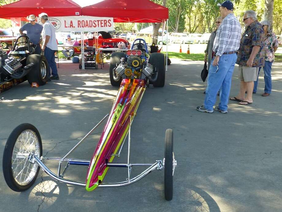 Top fuel dragster owned by Sam Chastain.