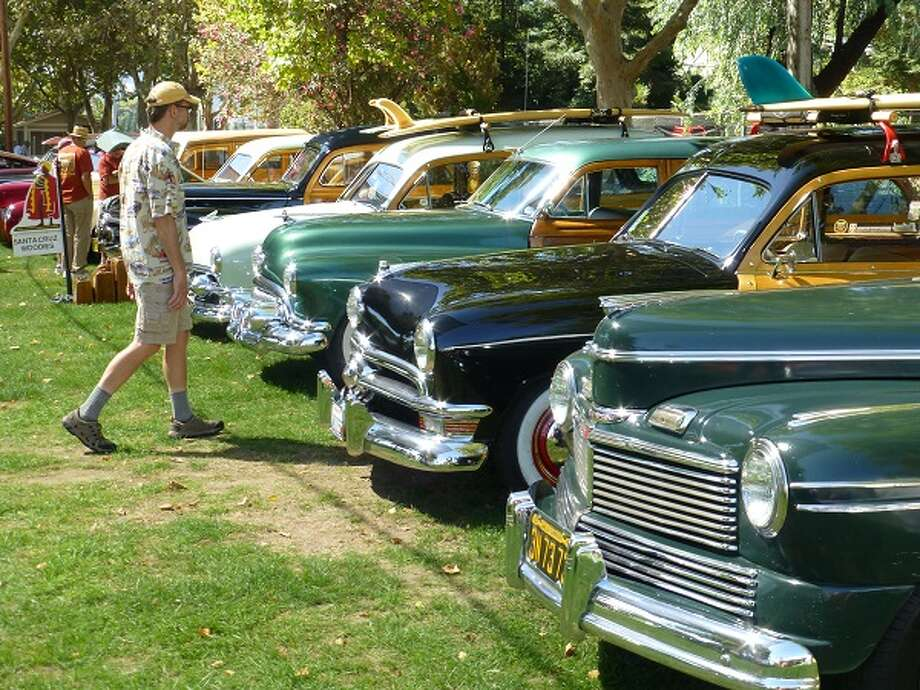 A row of woody wagons.