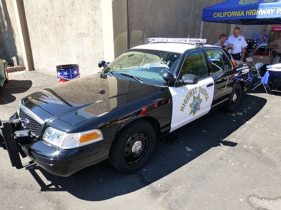 A Ford Crown Victoria Police Interceptor. Operator: California Highway Patrol. Owners: taxpayers of California. CHP Officer Salvador Contreras said he almost never sees hot rods speeding on public highways and has  never pulled one over.