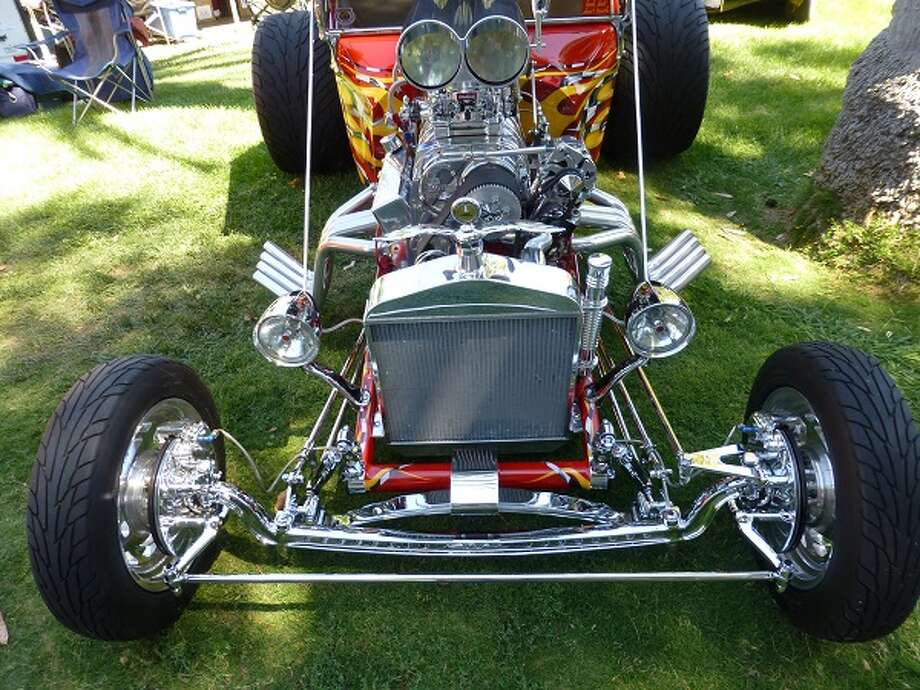 Front end of the 1923 Ford T-bucket owned by Kevin and Lori Randell of Salinas, Calif.