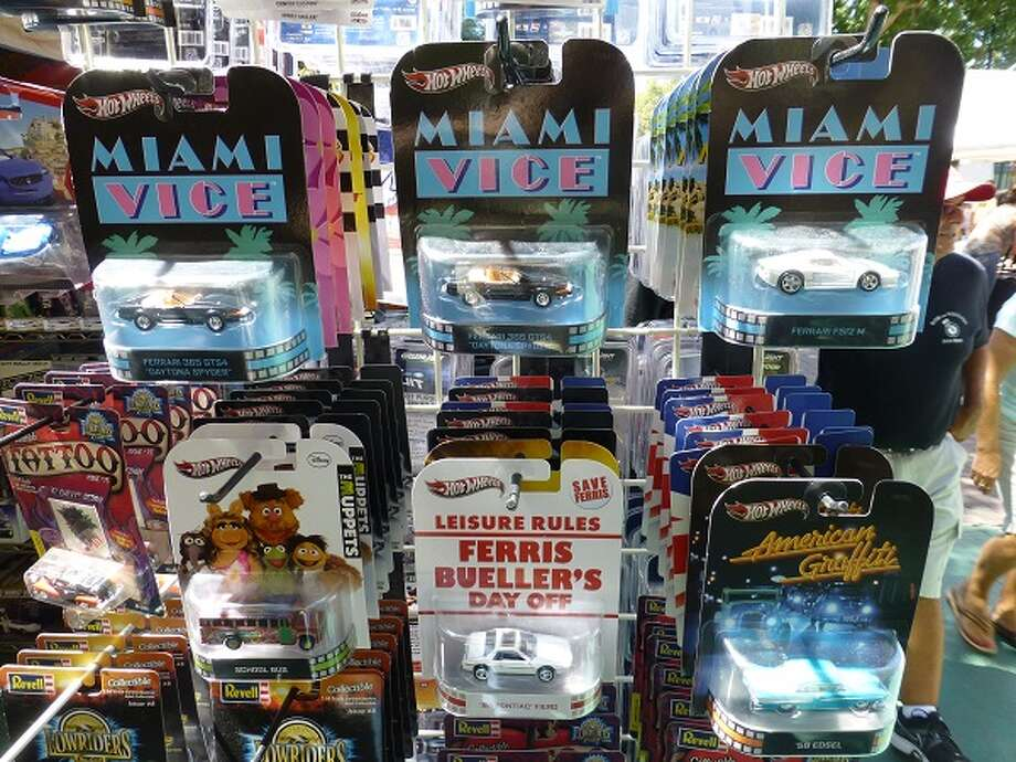 A display of model cars for sale.