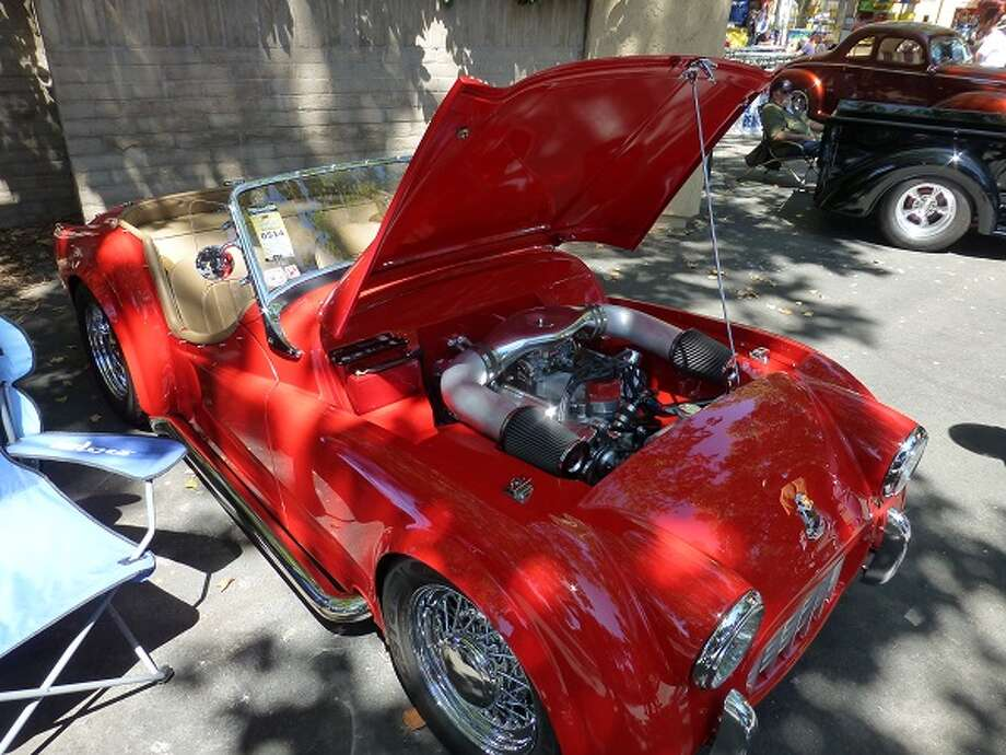 1957 Triumph TR3, with a Ford 400-horsepower V8 engine. Owner: Lloyd Bedeger, Castro Valley, Calif.