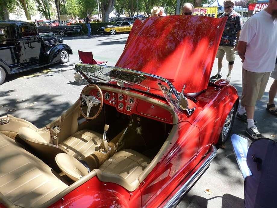 Interior of Lloyd Bedeger's 1957 Triumph TR3.