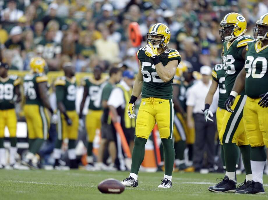 Green Bay Packers' Clay Matthews during the first half of an NFL preseason football game against the Seattle Seahawks Friday, Aug. 23, 2013, in Green Bay, Wis. (AP Photo/Jeffrey Phelps) Photo: AP