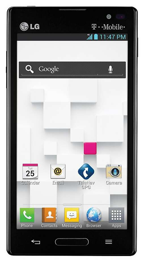 The LG Optimus L9 is 4G-capable with a 4.5-inch screen and a 5-megapixel camera. Photo: LG.com
