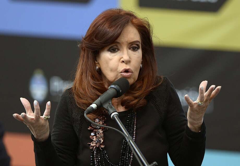 "President Cristina Fernandez has vowed not to pay the ""vulture funds"" over the 2001 default. Photo: JUAN MABROMATA, Staff / AFP"