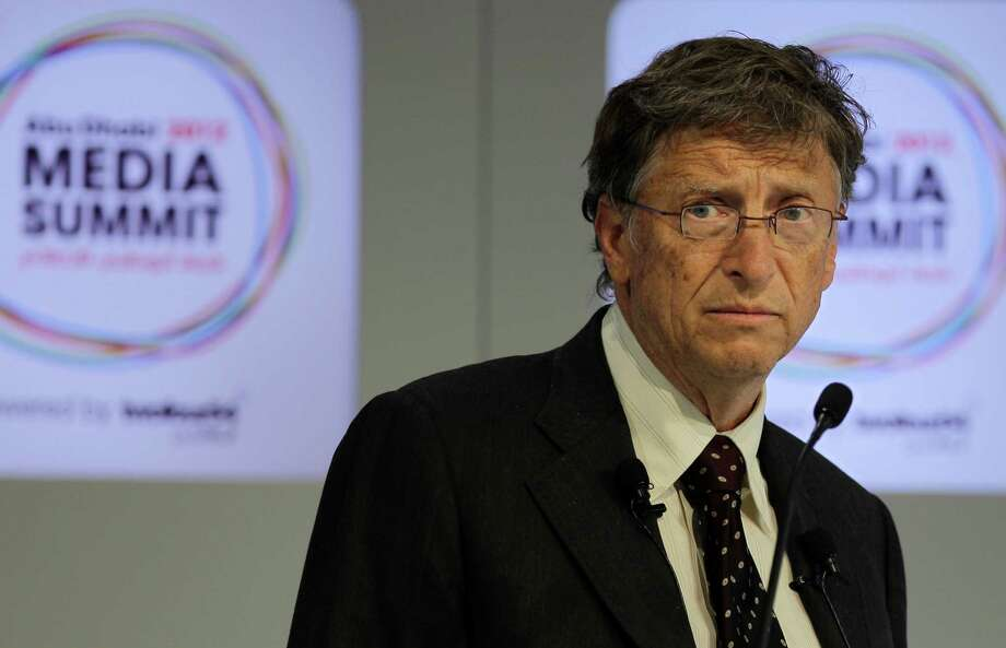 Bill Gates speaks during the opening session of  the Abu Dhabi Media Summit in United Arab Emirates, Tuesday Oct. 9, 2012. Photo: Kamran Jebreili, STF / AP