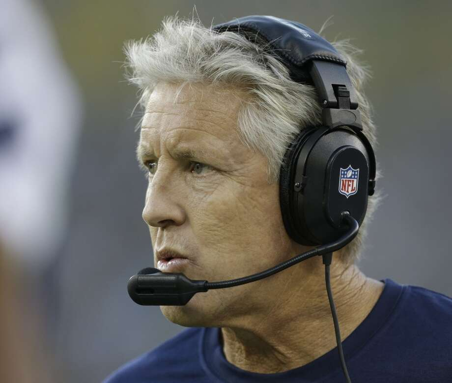 Seattle Seahawks head coach Pete Carroll during the first half of an NFL preseason football game against the Green Bay Packers Friday, Aug. 23, 2013, in Green Bay, Wis. (AP Photo/Jeffrey Phelps) Photo: AP