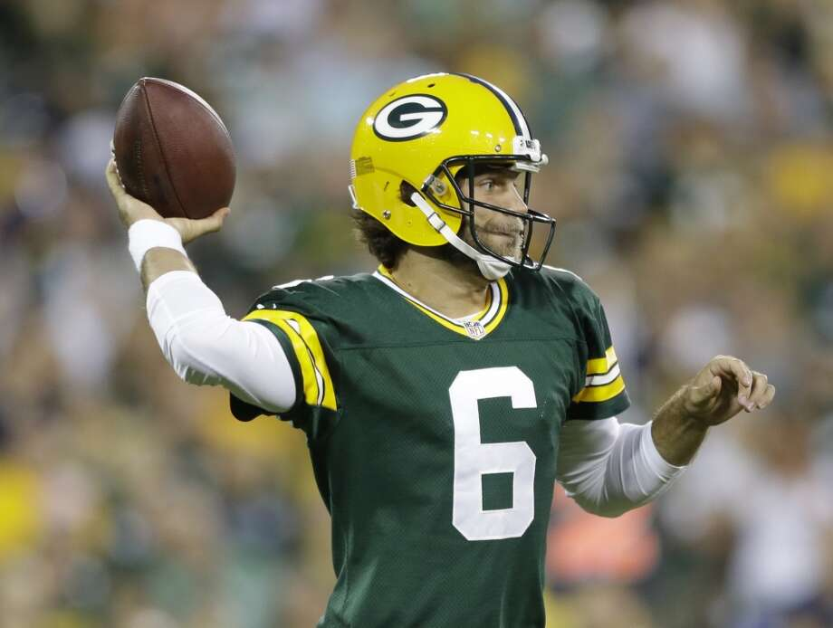 Green Bay Packers' Graham Harrell during the first half of an NFL preseason football game against the Seattle Seahawks Friday, Aug. 23, 2013, in Green Bay, Wis. (AP Photo/Jeffrey Phelps) Photo: AP