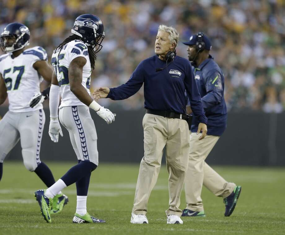 "1. Too many penaltiesThe following stat is not a typo: The Seahawks committed 14 penalties for a total of 182 yards.  Even for a preseason game that's far too many, and it's not exactly a new issue. Penalties hurt Seattle last year, when they averaged 6.67 per game -- tied for seventh-worst in the league. That ""hidden yardage"" adds up over a season, and could be a major problem when the games count.  Right guard J.R. Sweezy accounted for three penalties by himself. Lemuel Jeanpierre was called for two of his own. And several of the defensive fouls occurred in long-yardage situations for the Packers. The Hawks need to have that corrected by the time the regular season rolls around or the 12th Man will go as gray as Pete Carroll. Photo: Jeffrey Phelps, Associated Press"