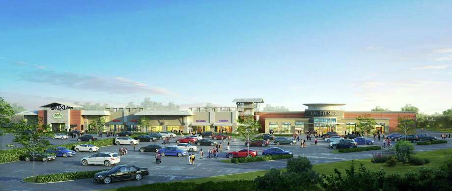 This shopping center, shown in a rendering, is planned for the corner of Interstate 10 and Yale. Photo: Courtesy Of Ponderosa