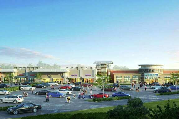 This shopping center, shown in a rendering, is planned for the corner of Interstate 10 and Yale.