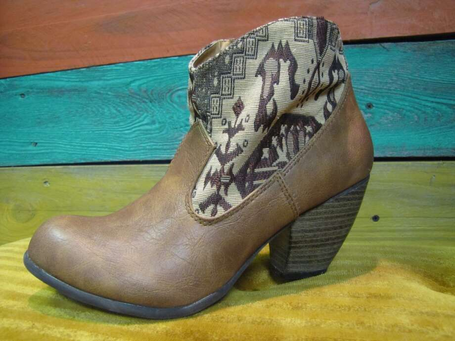 Tapestry ankle boots, $19.99, Company E2, Beaumont Photo: Cat5