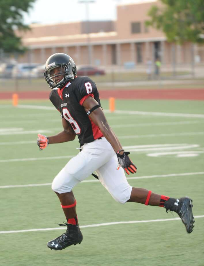 Westfield wide receiver Donovan Thompson. Photo: Eddy Matchette, For The Chronicle / Freelance