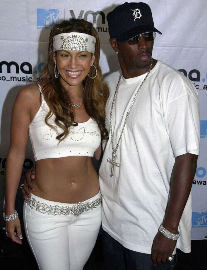 "Jennifer Lopez and Sean ""Diddy"" Combs (then known as Puffy) in 2000. The pair dated from 1999-2001. Photo: HENNY RAY ABRAMS, AFP/Getty Images"
