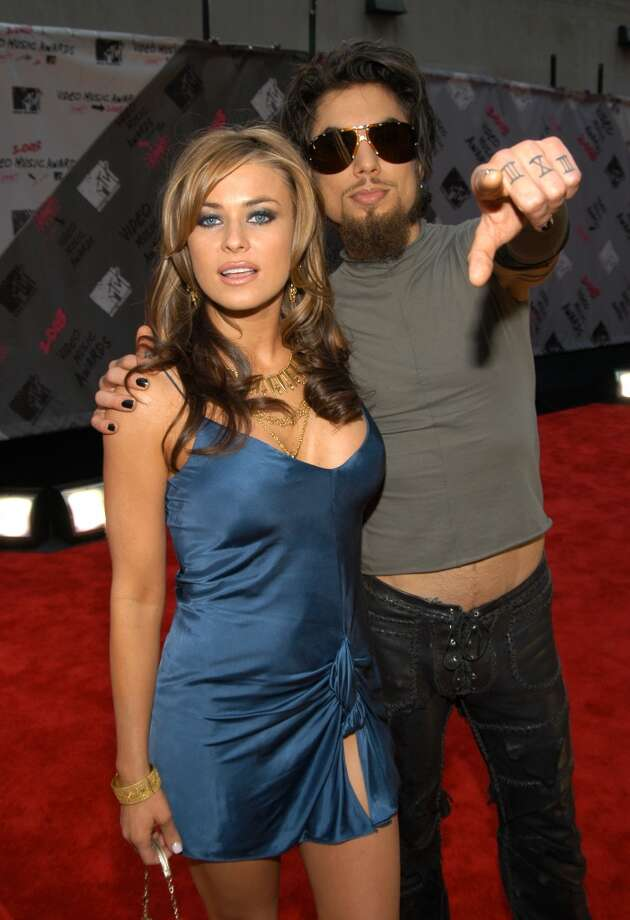 Carmen Electra and Dave Navarro during 2003 MTV Video Music Awards. They documented their marriage in the MTV reality series ''Til Death Do Us Part: Carmen & Dave.' They divorced in 2007. Photo: KMazur, WireImage