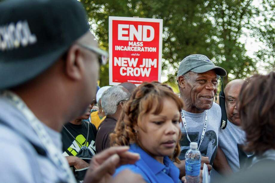 WASHINGTON, DC - AUGUST 24: Actor Danny Glover arrives at the National Mall to celebrate the 50th anniversary of the March on Washington and Dr. Martin Luther King, Jr.'s 'I have a Dream' speech on the National Mall on August 24, 2013 in Washington, DC. A commemorative march and a rally along the historic route followed in 1963 is led by civil rights leaders Al Sharpton and Martin Luther King III. Photo: Pete Marovich, Getty Images / 2013 Getty Images