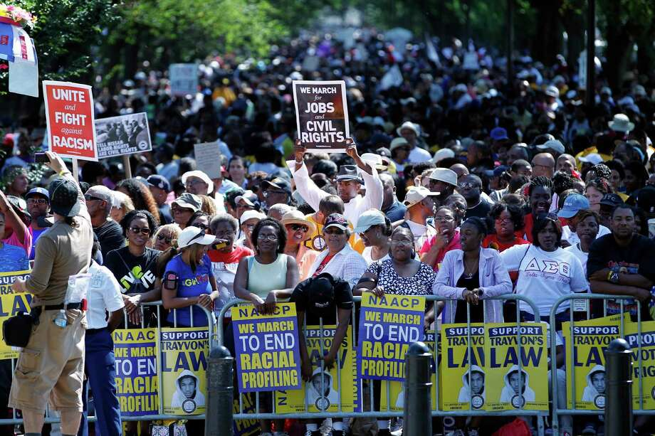 "Crowds rally at the Lincoln Memorial in Washington to commemorate the 50th anniversary of the 1963 March on Washington Saturday, Aug. 24, 2013. Fifty years ago, on the actual anniversary, April 28, 1963, Dr. Martin Luther King Jr. deliver his ""I Have a Dream"" speech during the March on Washington. Photo: Jose Luis Magana"
