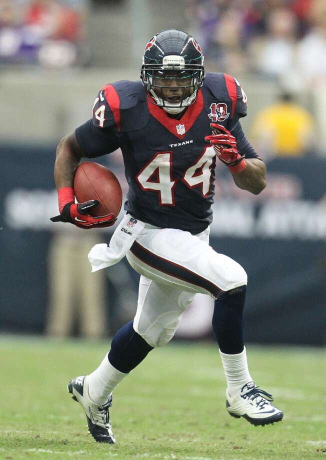 44  Ben Tate, RB, 2011-2012  Others to wear No. 44:  Vonta Leach, FB, 2006-2010 Moran Norris, FB, 2002-2005 Photo: Karen Warren, Houston Chronicle