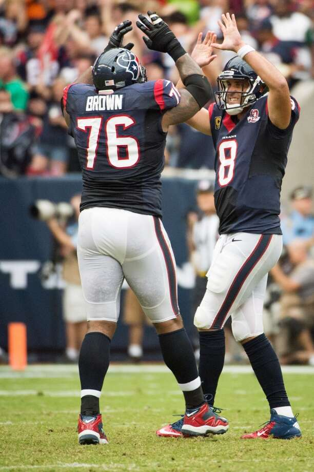 76Duane Brown, T, 2008-present  Others to wear No. 76:Steve McKinney, C, 2002-2007 Photo: Smiley N. Pool, Houston Chronicle