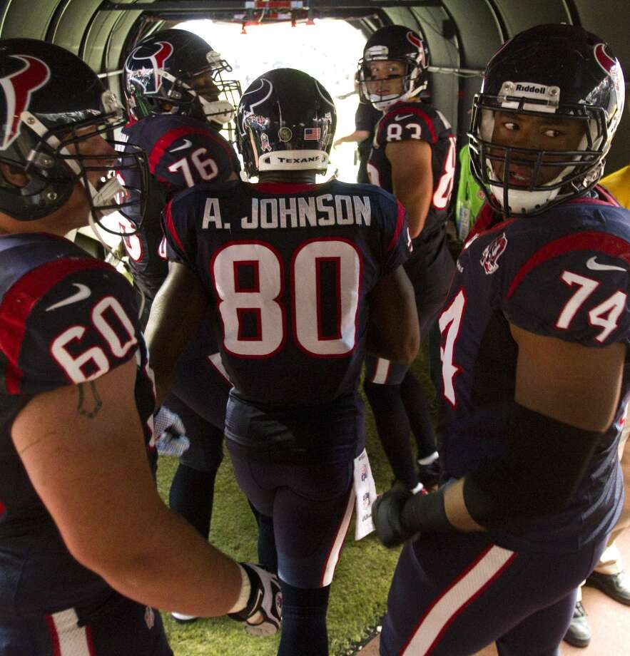 80Andre Johnson, WR, 2003-2014  Others to wear No. 80:Sean McDermott, TE/LS, 2002 Photo: Brett Coomer, Houston Chronicle