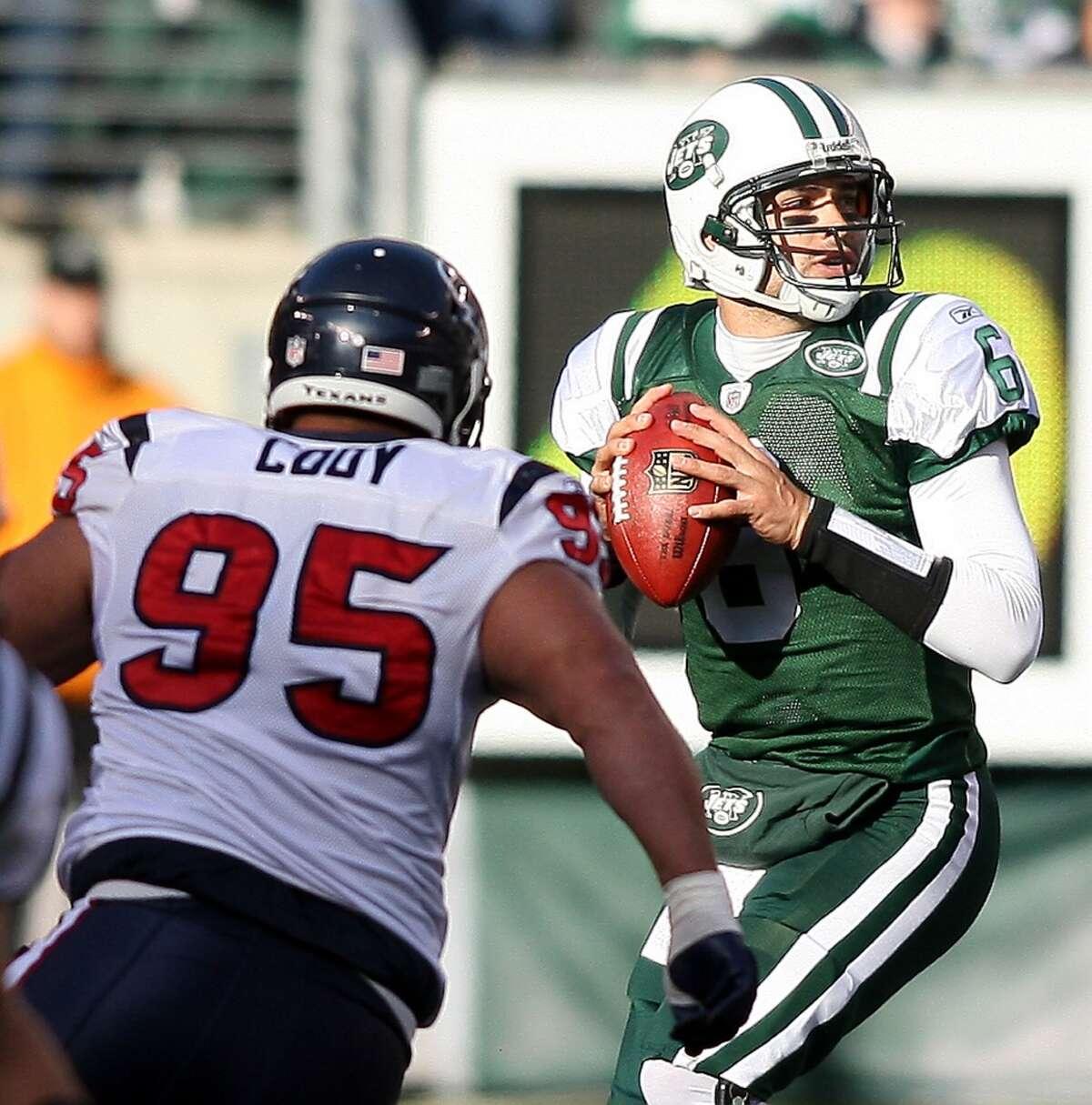 Jets over Texans, 24-7 (2009) Slaton 17Daniels 44
