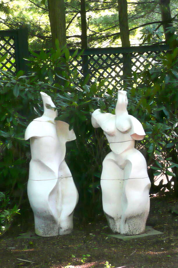 People interpret my sculpture as erotic,  says Florence Suerig.  I keep the names of my sculptures to myself. Photo: Greenwich Time