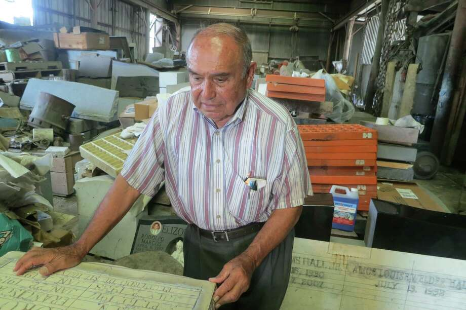 For nearly a century, Rodriguez Bros. Memorial has carved gravestones and monuments all over Texas. Lupe Rodriguez, a cousin of the founders, joined the company in 1944 at age 17.