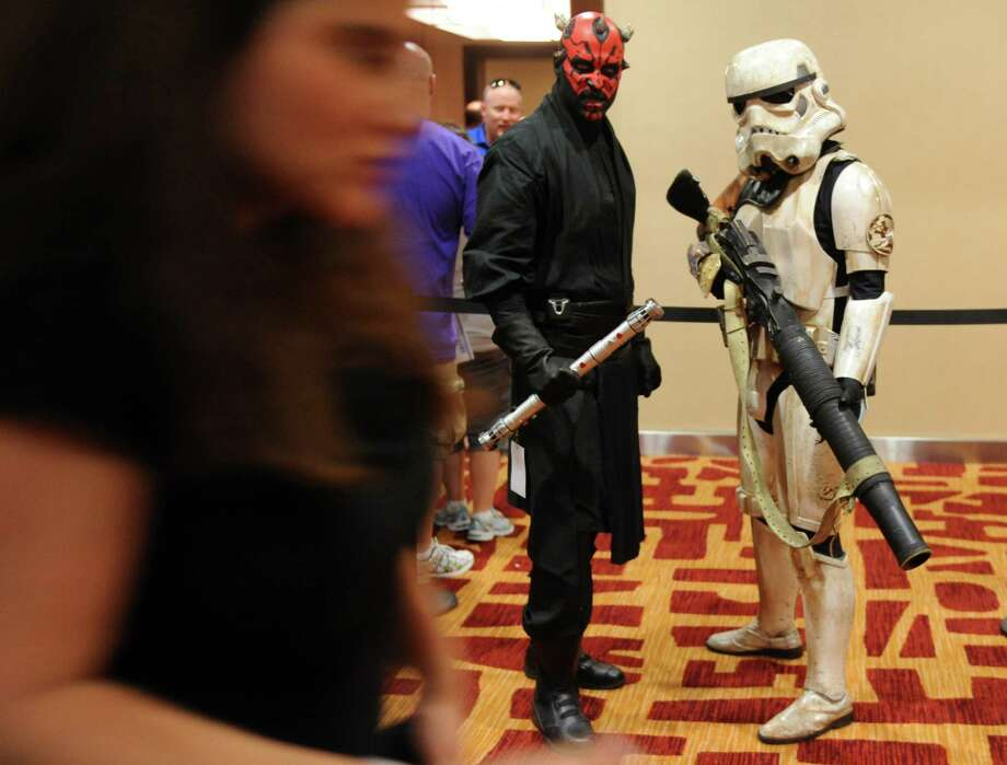Fans gather during ComiCONN at the Marriot Hotel in Trumbull, Conn. Saturday, Aug. 24, 2013. Photo: Autumn Driscoll / Connecticut Post