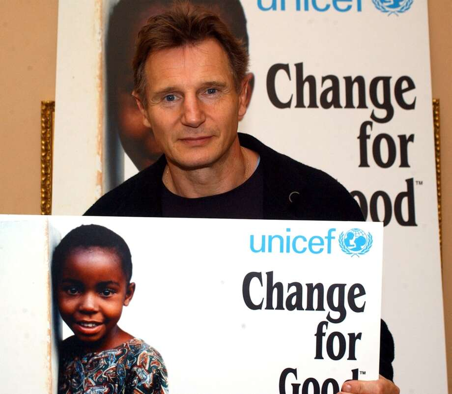 "Liam Neeson took time away from filming the new Batman movie to celebrate raising 4 Million Euros for the UNICEF ""Change For Good"" programme which he launched six years ago in association with Aer Lingus. (Photo by Tom O'Donnell/WireImage) Photo: Tom O'Donnell, WireImage"