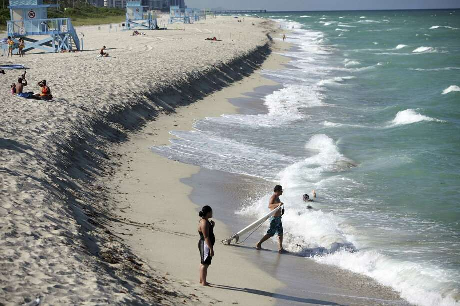 Sand is eroding at Haulover Beach Park in Miami and other South Florida beaches, and there is almost no sand left offshore to replenish the beaches. Photo: Angel Valentin / New York Times