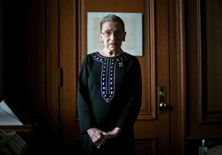 Justice Ruth Bader Ginsburg says she still enjoys being a Supreme Court justice and that that she will retire when her health dictates. Photo: TODD HEISLER, STF / NYTNS