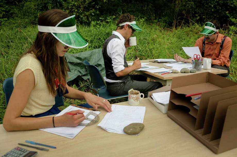"""The Satori Group takes part in their piece """"Fieldwork"""" at the seventh annual Lo-Fi Festival Saturday, August 24, 2013, at The Smoke Farm in Arlington. This year's theme was """"Must Be Present to Win!"""" Photo: JORDAN STEAD, SEATTLEPI.COM / SEATTLEPI.COM"""