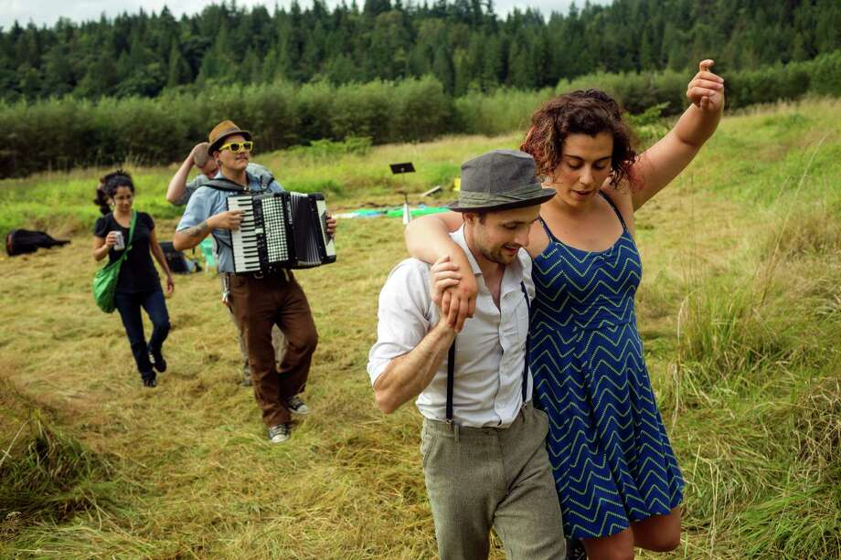 "Musicians and performers move through seventh annual Lo-Fi Festival Saturday, August 24, 2013, at The Smoke Farm in Arlington. This year's theme was ""Must Be Present to Win!"" Photo: JORDAN STEAD, SEATTLEPI.COM / SEATTLEPI.COM"